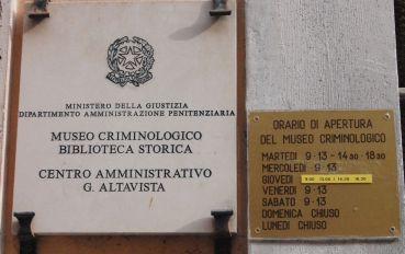 Музей криминологии, Рим