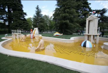 Mysterious Baths Fountain by Giorgio de Chirico, Milan