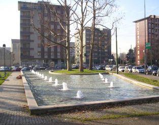 Fountain in Piazza Tirana, Milan