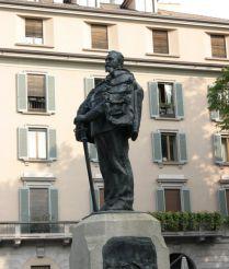 Statue to Giuseppe Dezza, Milan