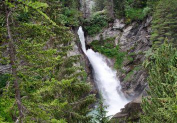 Waterfall Cascate del Rutor, La Thuile Commune