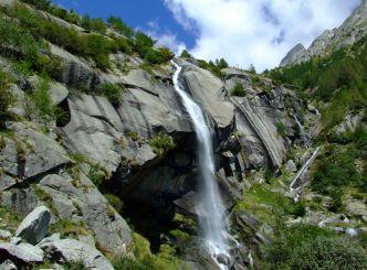 Waterfall Cascata del Ferro, Val Masino Commune