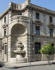 Fountain at the Corner of the Palazzo dell' INPS, Messina